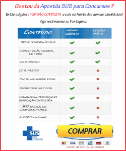 Apostila PDF E-Book SUS para Concursos Públicos - Comentada GRÁTIS